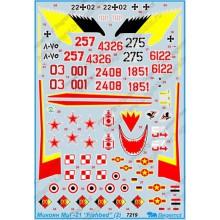 72-019 Begemot Декаль на Микоян МиГ-21 FISHBED (ч.2), 1/72