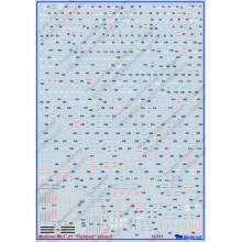 72-021 Begemot Декаль на Микоян МиГ-21 FISHBED технические надписи, 1/72
