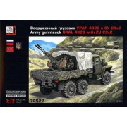 72522 Грань Вооруженный УРАЛ-4320 с ЗУ-23Х2, 1/72