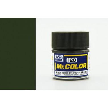 C120 Mr.Color RLM80 OLIVE GREEN, полуматовая, 10 мл