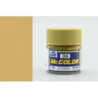 C39 Mr.Color DARK YELLOW (SANDY YELLOW), матовая, 10 мл