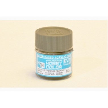 H304 Mr.Hobby OLIVE DRAB FS34087 (Оливковый тусклый) акрил, полуматовая 10 мл