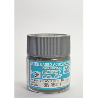 H305 Mr.Hobby краска GRAY FS36118 акрил, полуматовая 10 мл