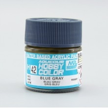 H42 Mr.Hobby BLUE GRAY (Серо-голубая) акрил, глянцевая 10 мл