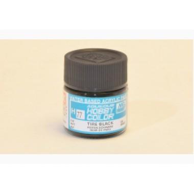 H77 Mr.Hobby TIRE BLACK (Черная резина) акрил, матовая 10 мл