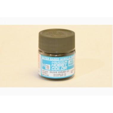 H78 Mr.Hobby OLIVE DRAB (2) (Оливковый тусклый) акрил, полуматовая 10 мл