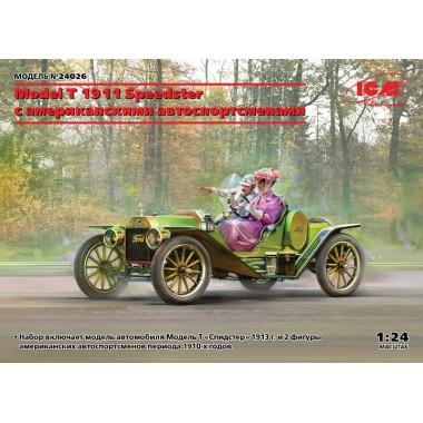 24026 ICM Model T 1913 Speedster с американскими автоспортсменами , 1/24