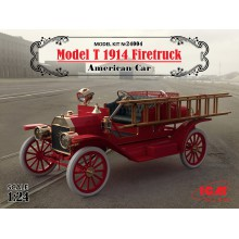 24004 ICM Model T 1914 Firetruck, Американский пожарный автомобиль, 1/24