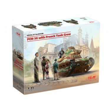 35338 ICM FCM 36 с французским танковым экипажем, 1/35