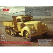 35412 ICM V3000S/SS M (Sd.Kfz.3b) Maultier, немецкий полугусеничный грузовик, 1/35
