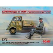 35418 ICM Lastkraftwagen 3,5 t AHN с германскими водителями, 1/35