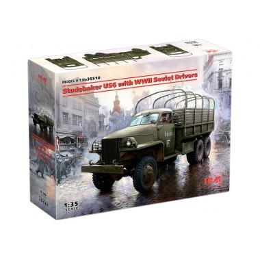 35510 ICM Studebaker US6 с советскими водителями II МВ, 1/35