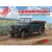 35581 ICM le.gl.Einheits-Pkw Kfz.1, Германский легкий внедорожный автомобиль ІІ МВ, 1/35