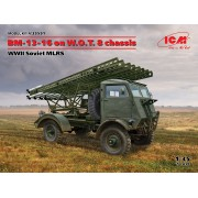 35591 ICM БМ-13-16 на шасси W.O.T. 8, Советская РСЗО II МВ, 1/35