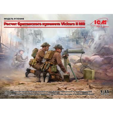 35646 ICM Фигуры, Расчет британского пулемета Vickers II МВ (пулемет Vickers и 2 фигуры), 1/35