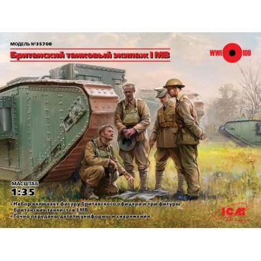 35708 ICM Фигуры, Британский танковый экипаж І МВ, 1/35