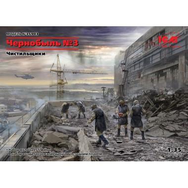 35903 ICM Чернобыль 3. Чистильщики (5 фигур), 1/35