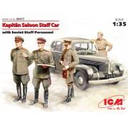 35477 ICM Штабная машина Капитан седан с советским штабным персоналом, 1/35
