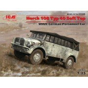 35506 ICM Horch 108 Typ 40 с поднятым тентом, Германский армейский автомобиль ІІ МВ, 1/35