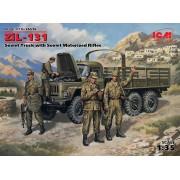 35516 ICM ЗиЛ-131, Советский грузовой автомобиль с советской мотопехотой, 1/35