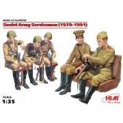 35636 ICM Фигуры Советские военнослужащие (1979-1991), (5 фигур), 1/35