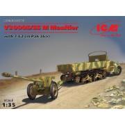 35803 ICM V3000S/SS M Maultier германский грузовой автомобиль с пушкой 7,62 см Pak 36 (r ), 1/35