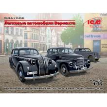 DS3504 ICM Легковые автомобили Вермахта (Kadett K38 Saloon, Kapitan Saloon, Admiral Saloon), 1/35