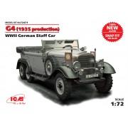 72471 ICM 72471 Германский автомобиль G4 (производства 1935 г.),  ІІ МВ (сборка без клея), 1/72