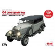 72472 ICM G4 (1935 г.) с тентом, Германский автомобиль ІІ МВ (сборка без клея), 1/72