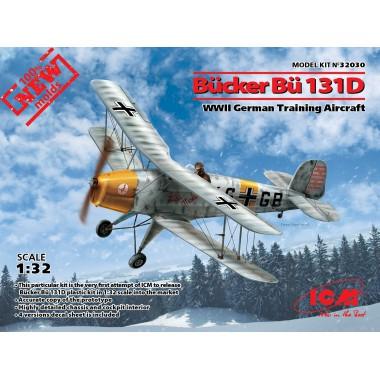 32030 ICM Bücker Bü 131D, Германский учебный самолет ІІ МВ, 1/32