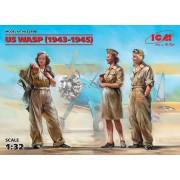32108 ICM Фигуры, Летчицы на службе ВВС США (1943-1945 г.) (3 фигуры) , 1/32