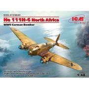 48265 ICM He 111H-6 Северная Африка, Германский бомбардировщик ІІ МВ, 1/48