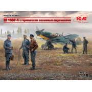 48805 ICM Bf 109F-4 с германским наземным персоналом, 1/48