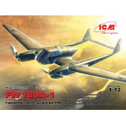 72291 ICM FW 189A-1, Германский самолет-разведчик II МВ, 1/72