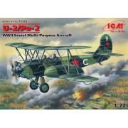 72242 ICM Советский многоцелевой самолёт 2МВ По-2, 1/72