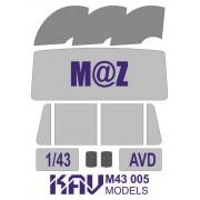KAV M43 005 KAV-models Окрасочная маска на остекление МАЗ (AVD), 1/43