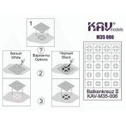 KAV M35 006 KAV-models Трафарет Балочный крест (Balkenkreuz) тип 2, 1/35