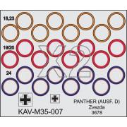 KAV M35 007 KAV-models Окрасочная маска на бандажи танка T-V Panther (Звезда, 3678), 1/35