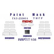 KAV M35 016 KAV-models Окрасочная маска на остекление ГАЗ-233014 Тигр (Meng) полная + экстра, 1/35