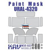 KAV M35 023 KAV-models Окрасочная маска на остекление Урал-4320 (Звезда), 1/35