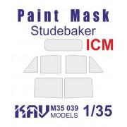 KAV M35 039 KAV-models Окрасочная маска на остекление Studebaker (ICM, Моделист), 1/35