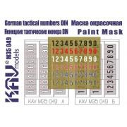 KAV M35 049 KAV-models Трафарет Немецкие тактические номера стандарт 1944г, 1/35