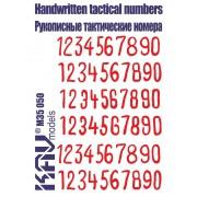 KAV M35 050 KAV-models Трафарет Рукописные Советские тактические номера 1, 1/35