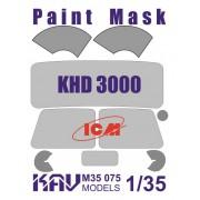 KAV M35 075 KAV-models Окрасочная маска на остекление KHD-S/A3000 (ICM), 1/35