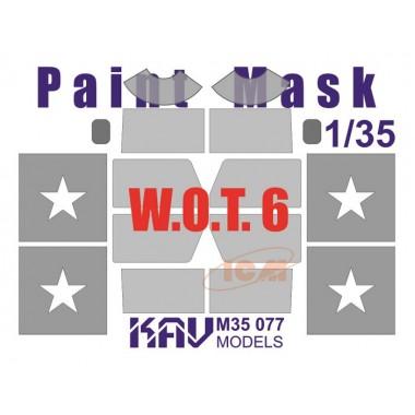 KAV M35 077 KAV-models Окрасочная маска на остекление W.O.T. 6 (ICM), 1/35