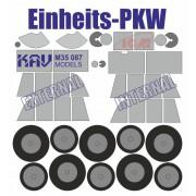 KAV M35 087 KAV-models Окрасочная маска на Einheits-PKW (ICM), 1/35