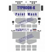 KAV M35 104 KAV-models Окрасочная маска на остекление Тайфун-К (Звезда), 1/35