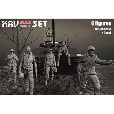 KAV F35 007 KAV-models Набор фигур Eddie Set (6 фигур), 1/35