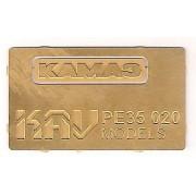 KAV PE35 020 KAV-models Табличка на решетку радиатора КАМАЗ, 1/35