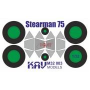 KAV M32 003 KAV-models Окрасочная маска на Stearman 75 Kaydet (ICM), 1/32
